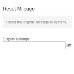 reset mileage