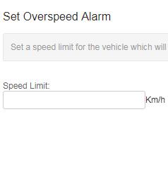 set overspeed alarm