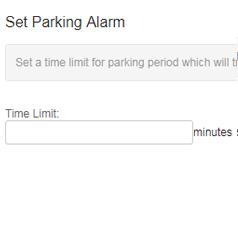 set parking alarm