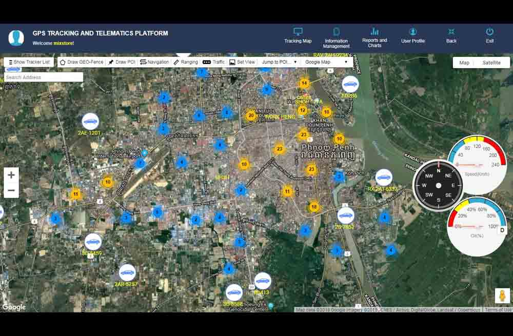 oversee gps tracking platform