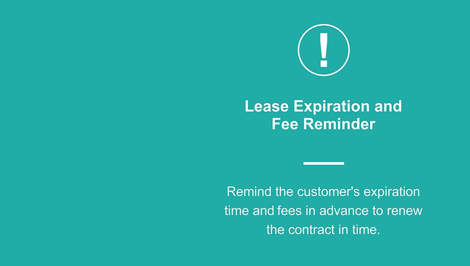 lease expiration and fee reminder