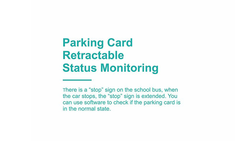 parking card retractable status monitoring
